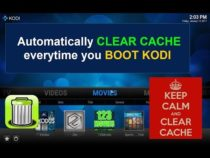 Clear Cache Automatically with KODI